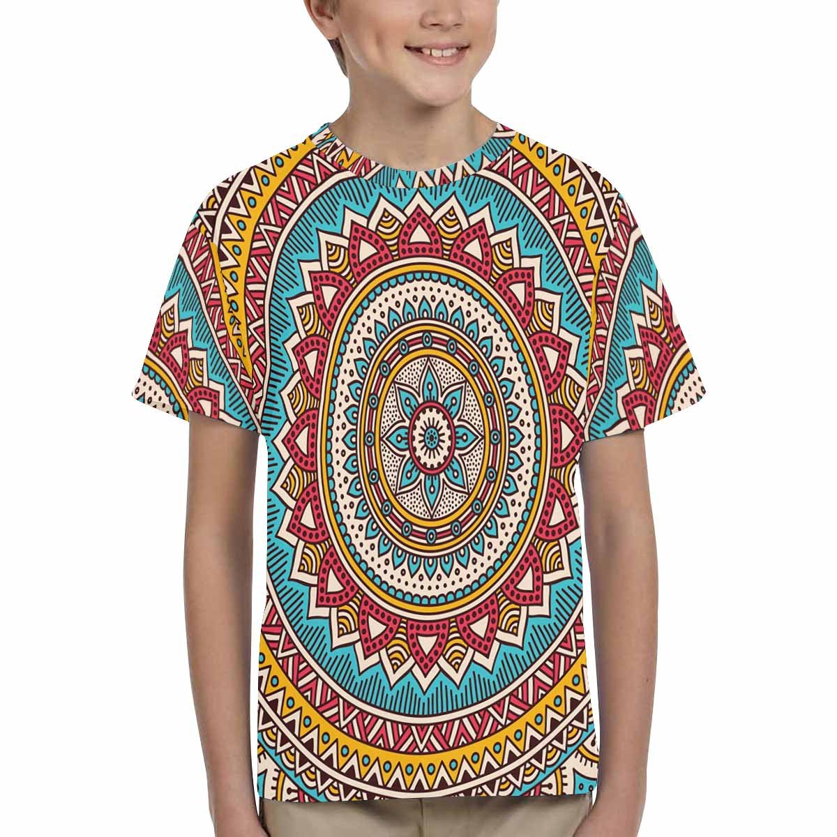 INTERESTPRINT Kids T-Shirt Mandala Background XS-XL