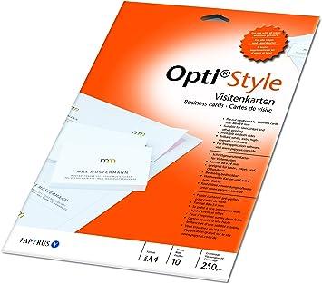 Amazon Com Opti Style Visitenkarten 220 G 85 X 55 Mm A 4