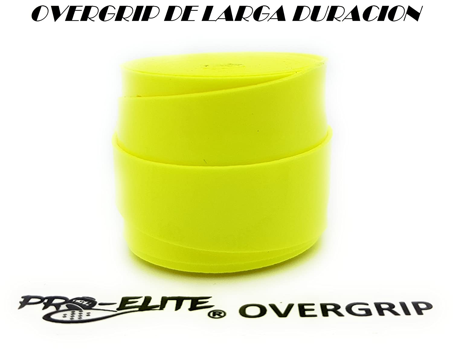 overgrip Pro Elite Premium Liso Amarillo Flúor: Amazon.es ...