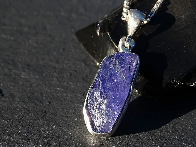 b48e7a9c5c298 Amazon.com: tanzanite pendant silver, raw tanzanite pendant ...