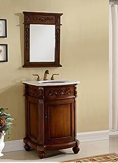 24u201d powder room special camelot bathroom sink vanity wmatching mirror model bwv