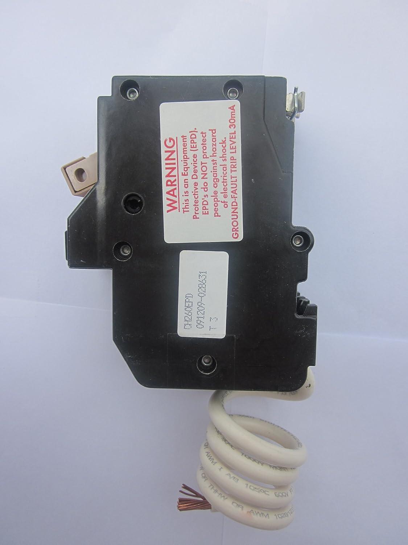 Eaton Cutler Hammer Ch230epd Type Ch 30ma Gfi Breaker 30a 2 Pole 120 Br 20 Amp Singlepole Ground Fault Circuit 240v 10k