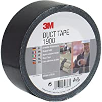 3M 1900S50 Value Duct Tape, 50 mm x 50 m, Black