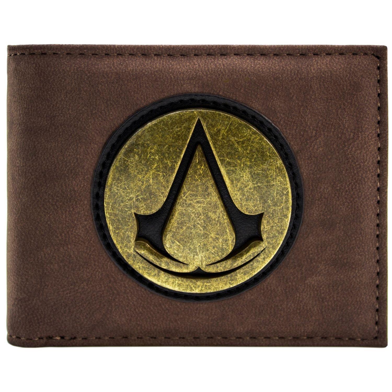 Assassins Creed Logo Original de Symbole rétro d'or Marron Portefeuille