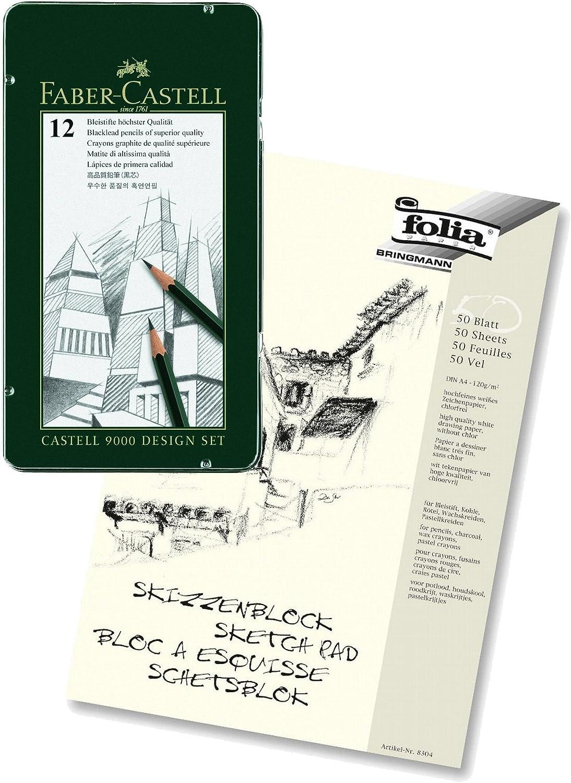 Bleistift CASTELL 9000 12er Design Set Faber Castell