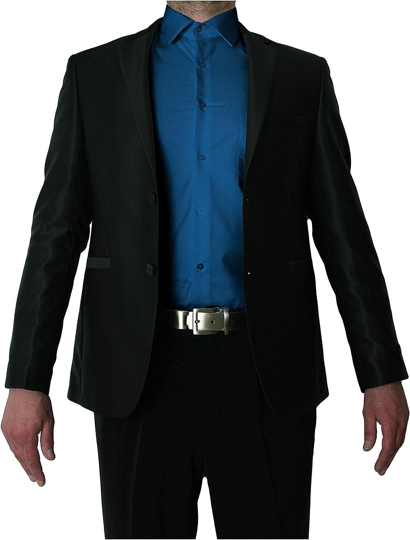TONELLI Designer Herren Hemd B/ügelfrei klassischer Kragen Herrenhemd Kentkragen viele Farben Langarm