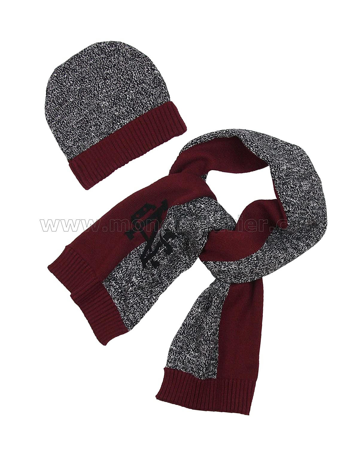 Sizes 8-16 Mayoral Junior Boys Hat and Scarf Set Burgundy