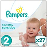 Pampers - New Baby Sensitive - Couches Taille 2 (3-6 kg) - Pack Géant (x27)