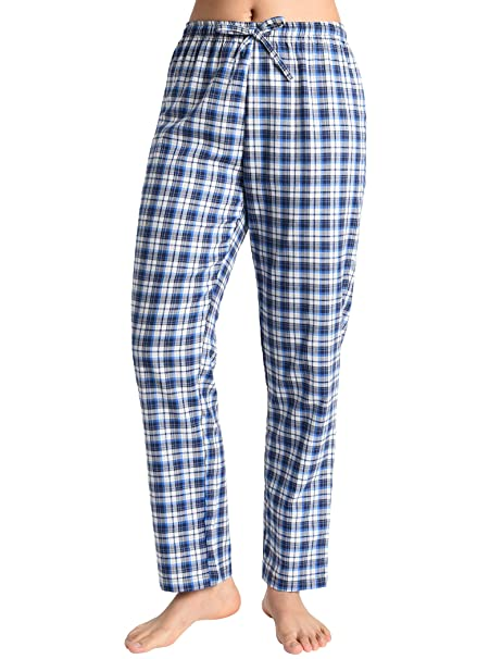 35efa28cbd Latuza Women s Pajama Pants Cotton Lounge Pants Plaid PJs Bottoms at ...