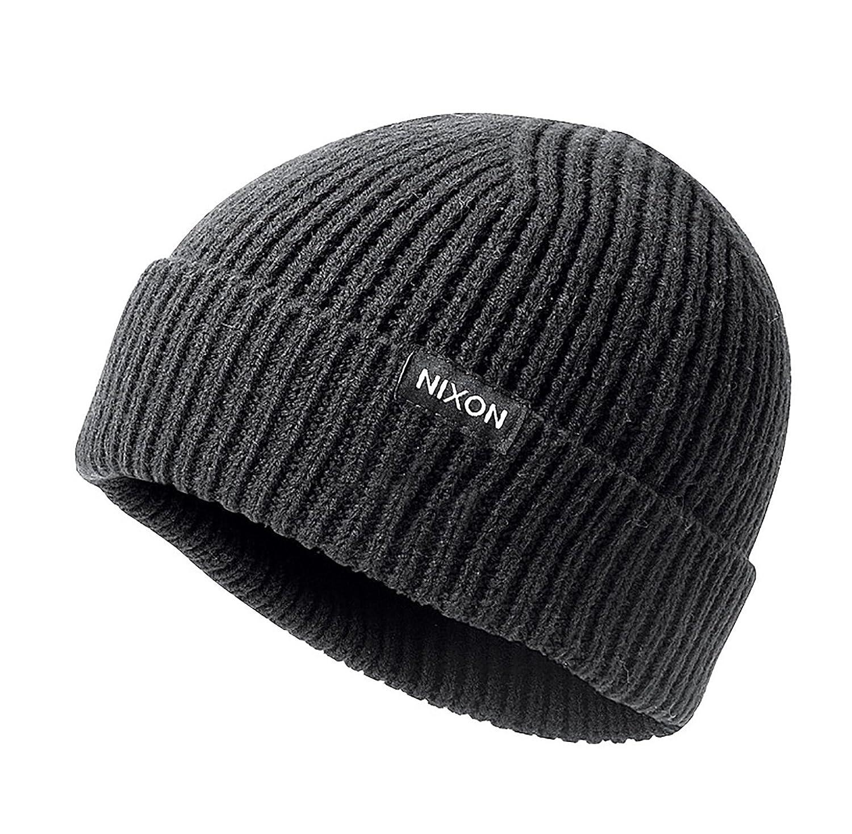 76983e3d47115 Nixon Men s Regain Beanie Black Hat  Amazon.in  Clothing   Accessories