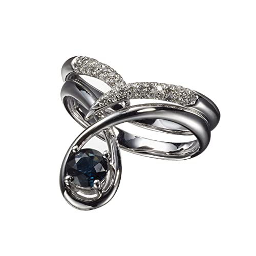 Alternative Wedding Rings.Amazon Com Non Diamond Engagement Ring Set By Majade Blue Sapphire