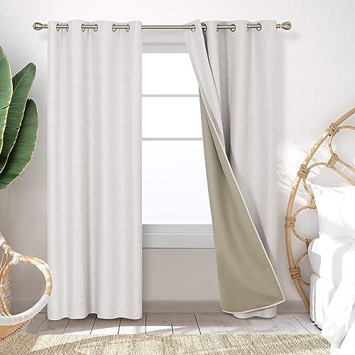 Deconovo Decorative Insulating Blackout Curtains Energy Efficient Window Curtains - a good cheap window curtain panel