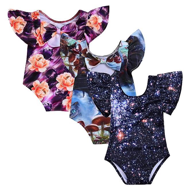 Amazon.com: CAMIDY 1 – 4T bebé niña 3d impresión traje de ...