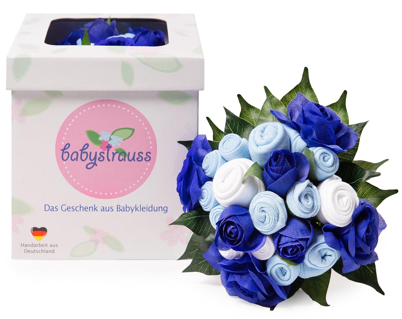 das Original aus Deutschland Babykleidung als Blumenstrau/ß zur Geburt Taufe und Babyparty babystrauss Jungen gro/ß