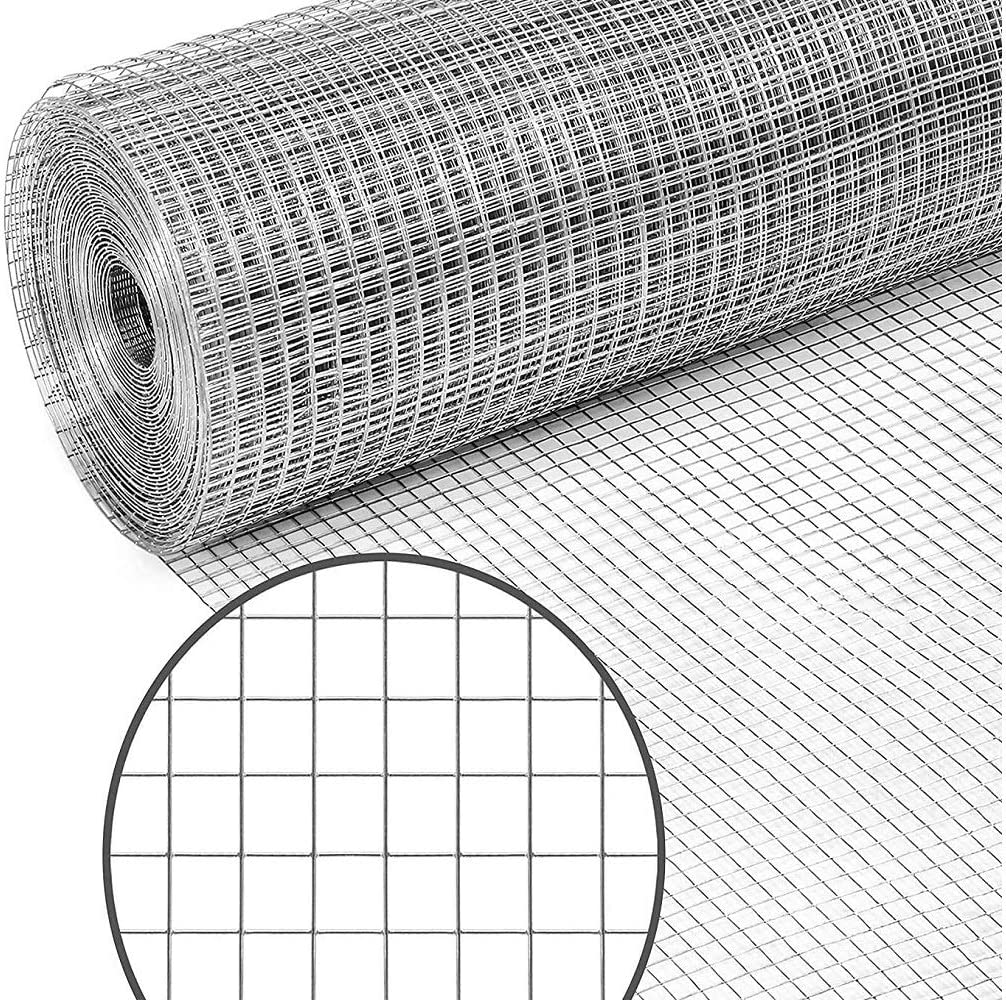 Garden Tailor 36 x 100 ft Hardware Cloth for Chicken Coop Wire Fencing, 1/2 inch Square Mesh, 19 Gauge Galvanized Welded Fence Roll, Garden/Plants Support Project, Poultry Netting Cage (Silver)