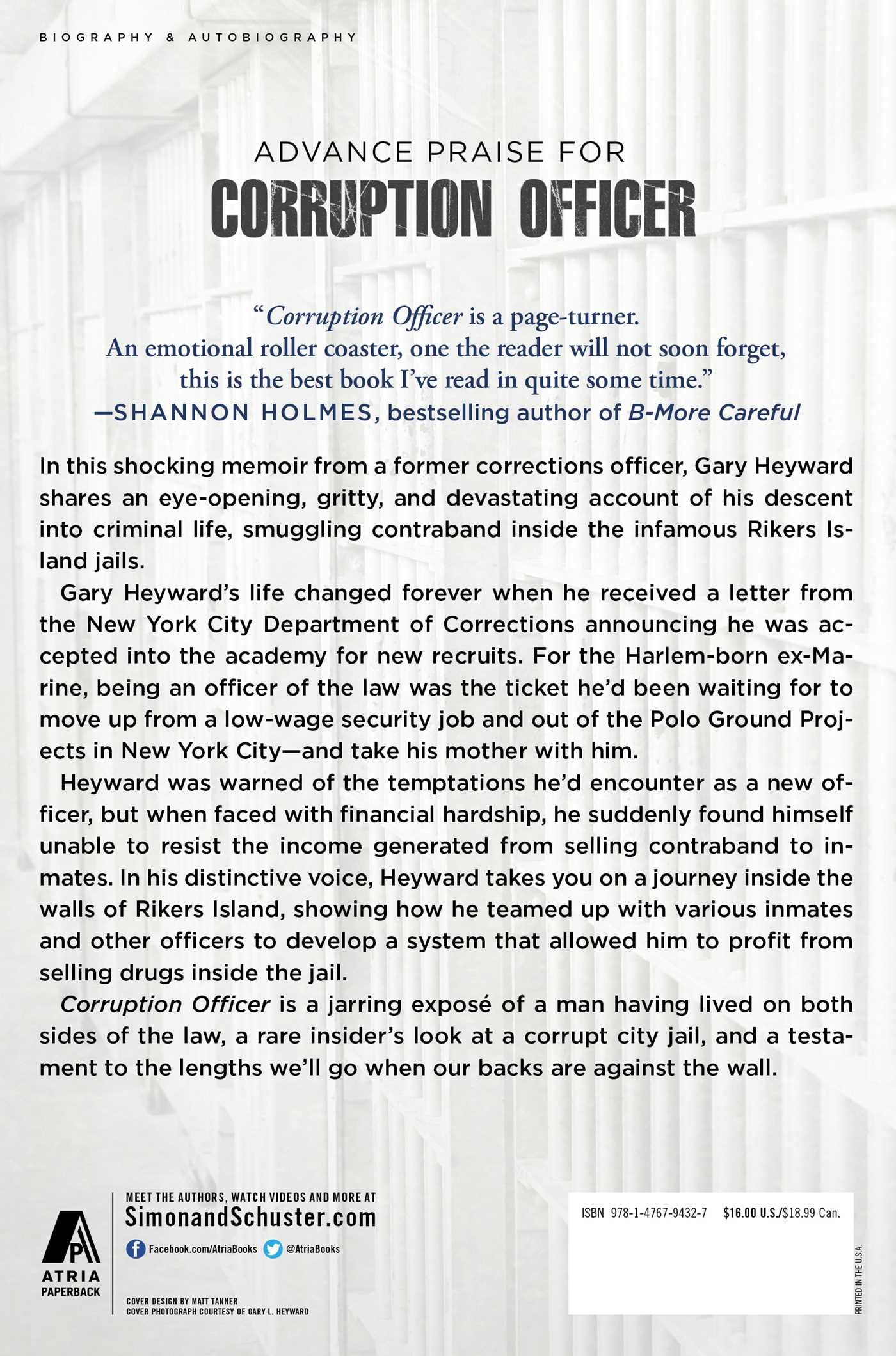 Corruption Officer: From Jail Guard To Perpetrator Inside Rikers Island:  Gary L. Heyward: 9781476794327: Amazon.com: Books