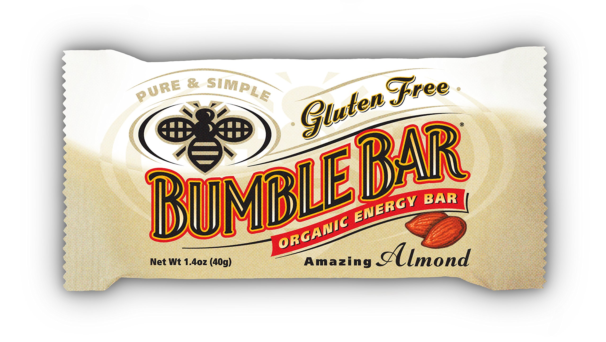 BUMBLE BAR Organic Energy Amazing Almond, 1.4 Ounce (Pack of 12)