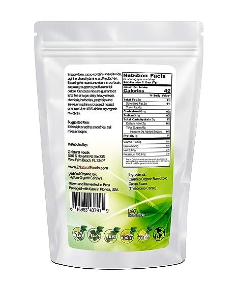 USDA Certificado Orgánico Cacao Nibs – Pure, Raw, Vegan, non ...