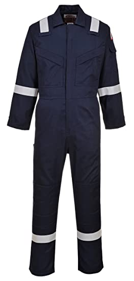 PW Bizflame Plus Flame Resistant Anti-Static High Visibility Super Lightweight Workwear Coverall Boilersuit