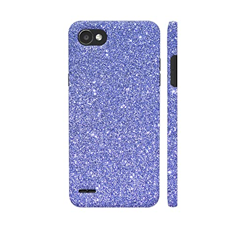 check out 07d89 97b17 Colorpur LG Q6 Cover - Blue Glitter Sparkley Printed: Amazon.in ...