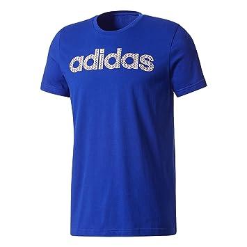 adidas Linear Knitted Camiseta, Hombre, Azul (Maruni), S: Amazon.es: Deportes y aire libre
