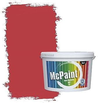 Mcpaint Bunte Wandfarbe Feuerrot 5 Liter Weitere Rote Farbtöne