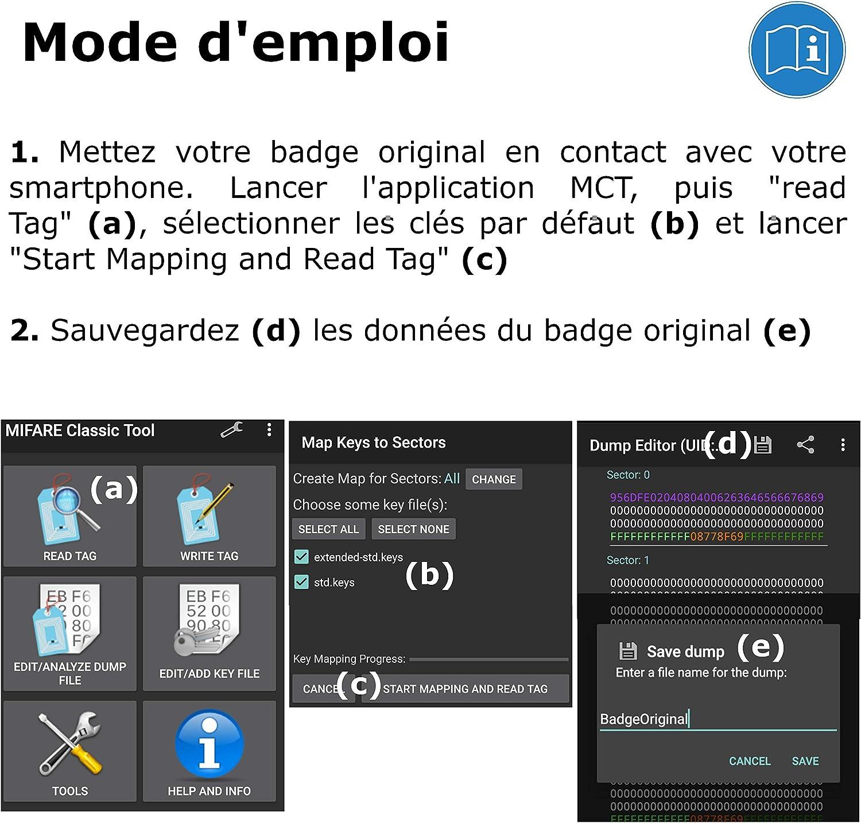 programmierbar MCT Android 5 St/ück Plakette Magic Passs UID wechselbar