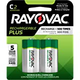 RAYOVAC C 2-Pack RECHARGEABLE PLUS Batteries, PL714-2 GENE