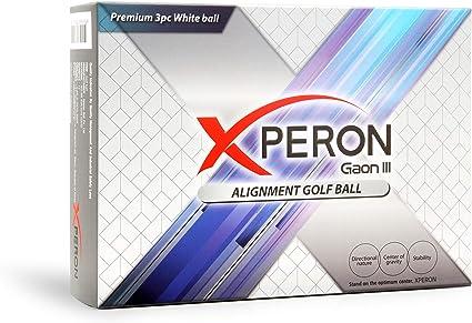 Xperon Pelotas De Golf De Doble Alineación 6 Tipos Con Opción Personalizada Una Docena Blanco Sports Outdoors
