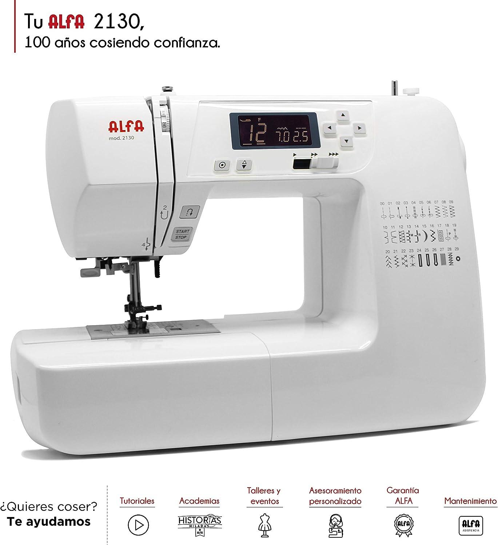 Alfa Modelo 2130-Maquina de Coser electrónica, 30 Puntadas: Amazon.es: Hogar