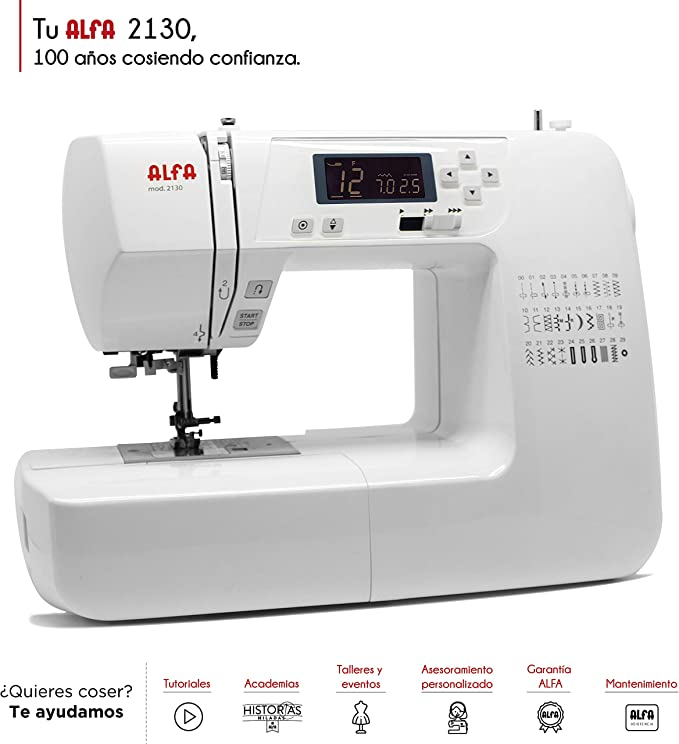 Alfa Modelo 2130-Maquina de Coser electrónica, 30 Puntadas: Amazon ...