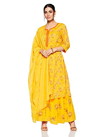 f0c00250a8e BIBA Women's Straight Salwar Suit: Amazon.in: Clothing & Accessories