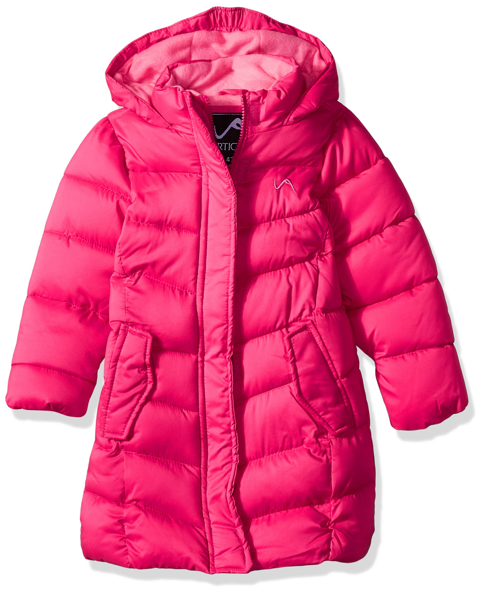 Vertical '9 Girls' Little Fashion Quilted Bubble Jacket, Fuchsia, 5/6