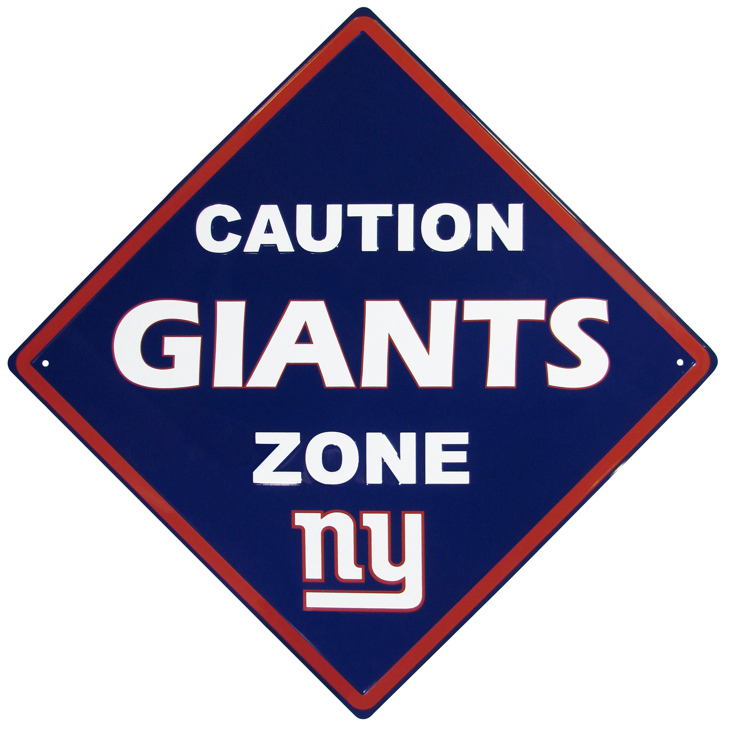 NFL Caution Wall Sign Plaque, 14 inch by Siskiyou