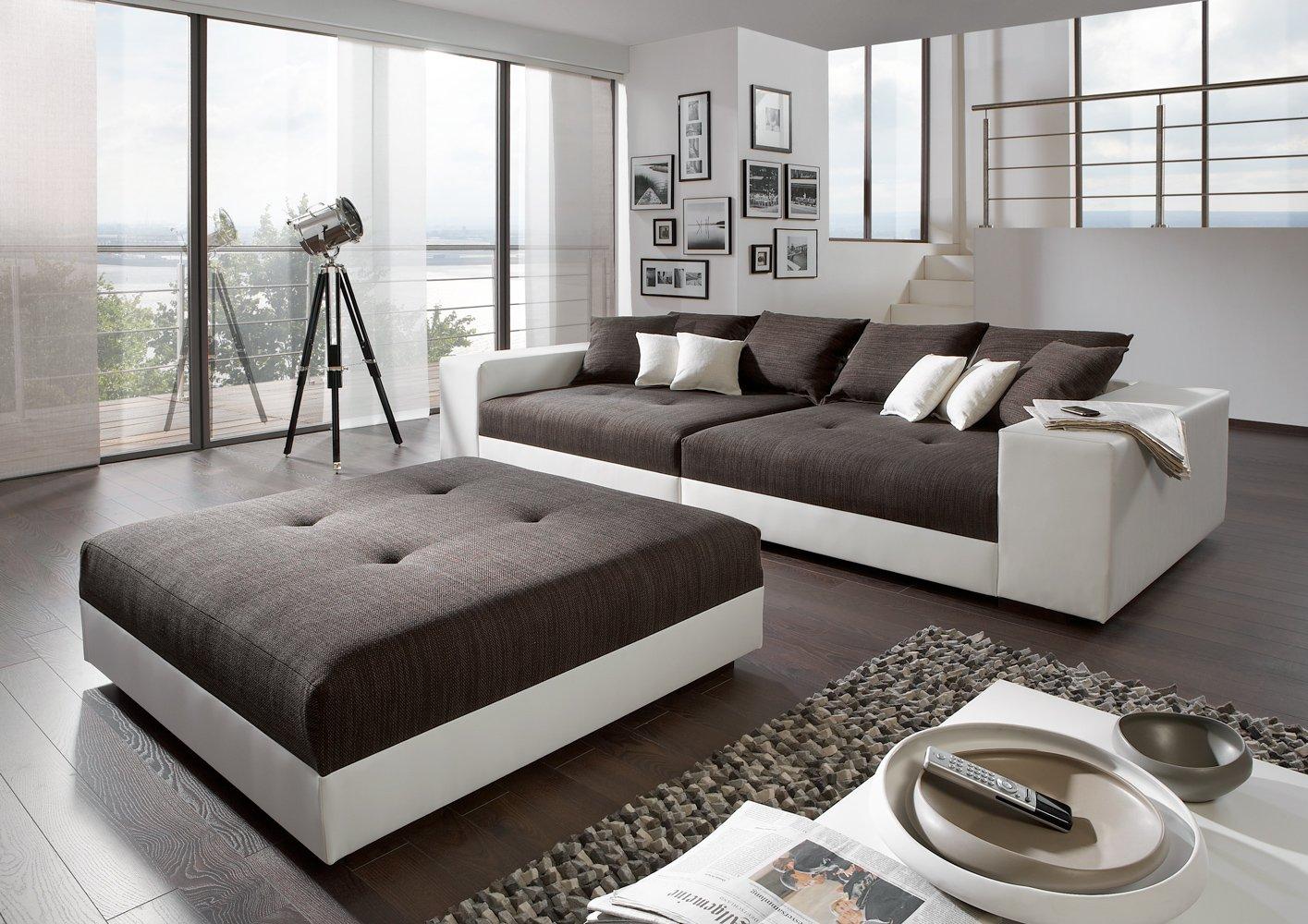 Big Sofa exclusiv mit Hocker – Made in Germany – Freie Stoff und Farbwahl zum kombinieren ohne Aufpreis aus unserem Sortiment (ausser Echtleder). Nahezu jedes Sondermaß möglich! Sprechen Sie uns an. Info unter 05226-9845045 oder info@highlight-polstermoebel.de