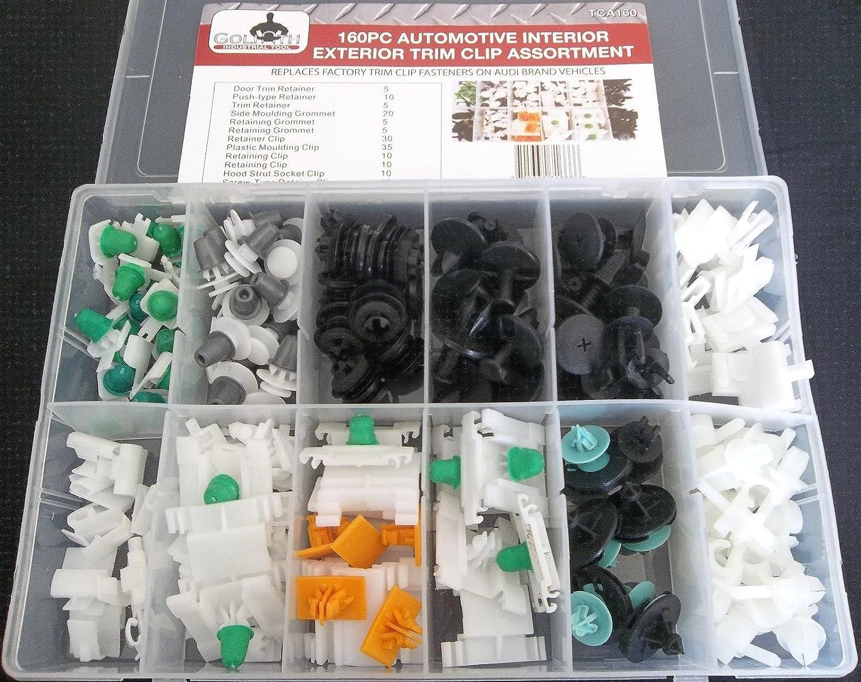 AUDI Trim Clip Assortment Set Retaining Retainer Grommet Clips Fixings 160pc