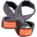 Serious Steel Fitness Figure 8 Straps | Deadlift Straps | Lifting Straps