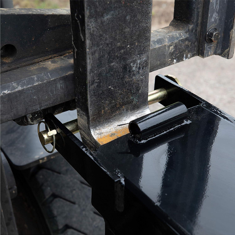 10,000 LB Capacity Hooks for Telehandlers and Fork Trucks Titan Attachments 90-in Adjustable Forklift Spreader Beam