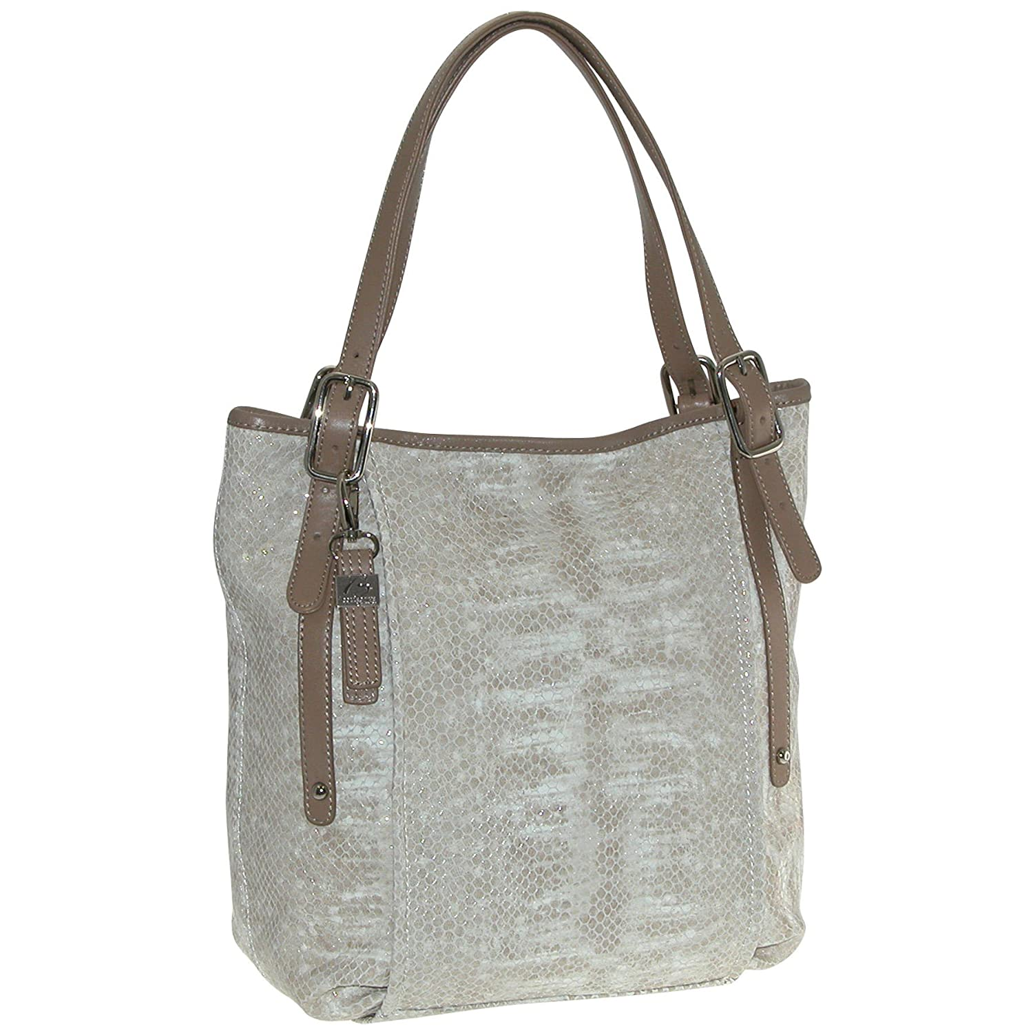 Buxton FDL11024.BE.BX Sophie Collection Leather Tall Shoulder Bag - Beige   B007XINFG8