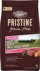 Castor & Pollux Pristine Grain Free Dry Dog Food Small Breed Grass-Fed Beef Recipe