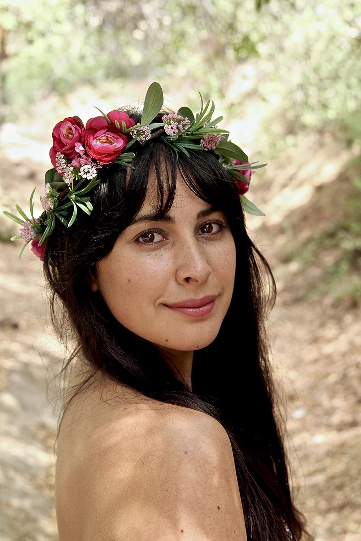 Flower Crown Wedding.Amazon Com Flower Crown Flower Crown Wedding Green Flower Crown
