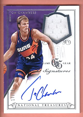 fe18a0e715f6 13 14 National Treasures Game Gear Tom Chambers Jersey On Card ...