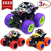 Monster Trucks Toys for Boys - Friction Powered 3-Pack Mini Push and Go Car Truck...