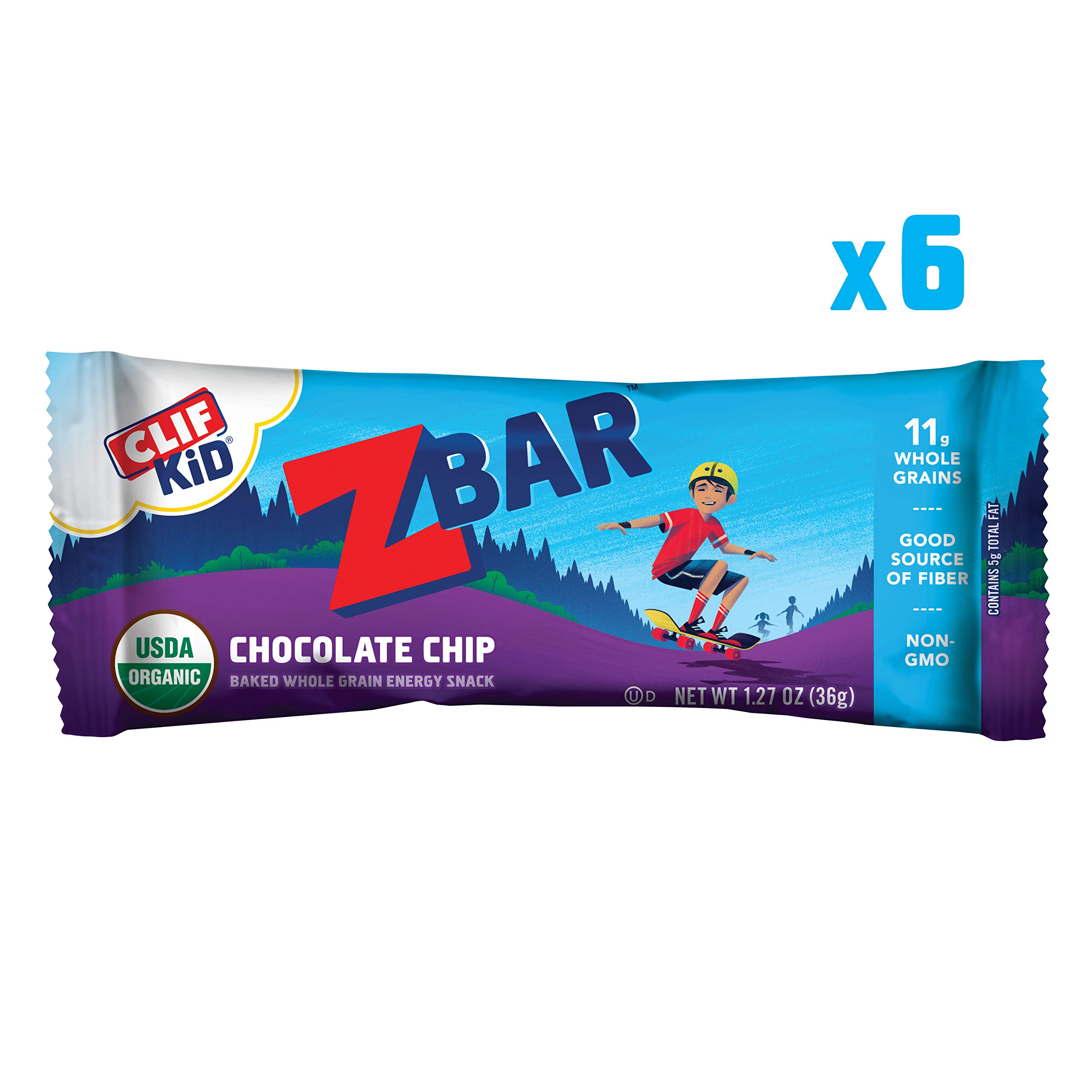 CLIF KID ZBAR - Organic Energy Bars - Chocolate Chip - (1.27 Ounce Snack Bars, 6 Count)