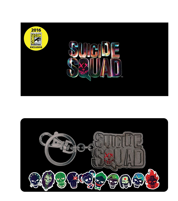 DC Suicide Squad Logo Pewter Key Ring SDCC Exclusive 2016 Action Figure Monogram International 45672