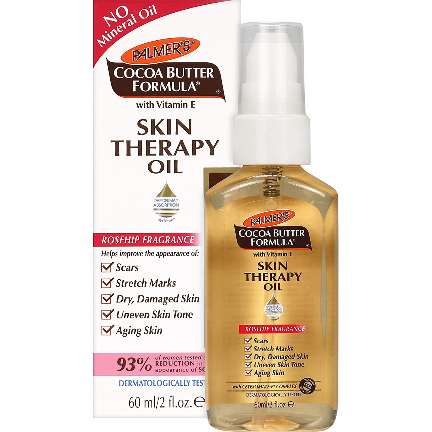 Palmer's Cocoa Butter Formula Skin Therapy Moisturizing Body Oil with Vitamin E, Rosehip Fragrance | 2 Ounces