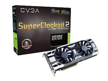 EVGA 08G-P4-6573-KR - Tarjeta gráfica (GeForce GTX 1070, 8 GB, GDDR5, 256 bit, 7680 x 4320 Pixeles, PCI Express x16 3.0)