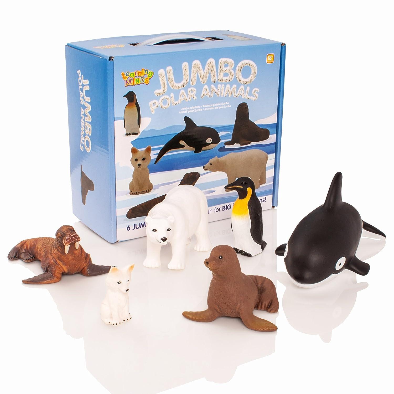 Learning Minds Set de 6 Figuras de Animales de Jumbo Polar: Amazon.es: Juguetes y juegos