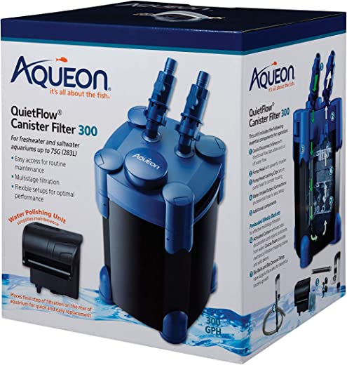 Aqueon QuietFlow Canister Filter 55-100 Gallons