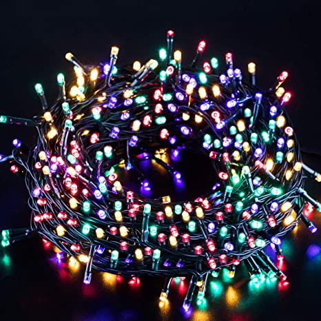 Marchpower Indoor Outdoor String Lights 131ft 300 Led 10 Modes Battery Operated Waterproof Fairy Lights Decorative Light Strings For Easter Wedding Birthday Party Bedroom Multi Color